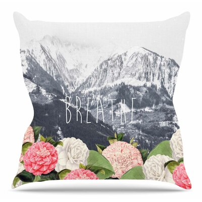 Breathe by Suzanne Carter Throw Pillow Size: 26 H x 26 W x 4 D