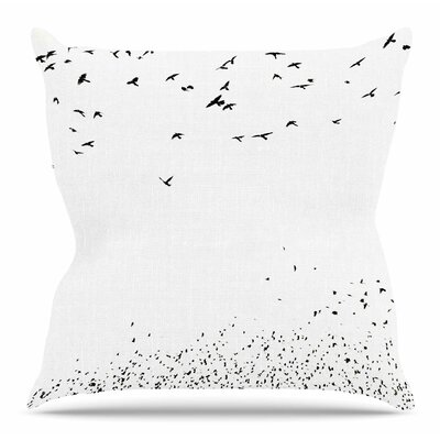 The Birds by Sylvia Coomes Throw Pillow Size: 20 H x 20 W x 4 D
