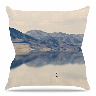 Reflective 1 by Sylvia Coomes Throw Pillow Size: 26 H x 26 W x 4 D