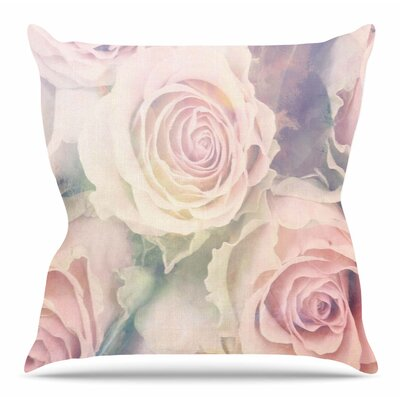 Faded Beauty by Suzanne Carter Throw Pillow Size: 16 H x 16 W x 4 D