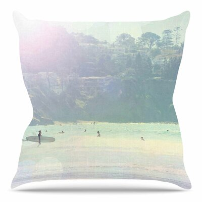 Rainbow 3 by Sylvia Coomes Throw Pillow Size: 20 H x 20 W x 4 D
