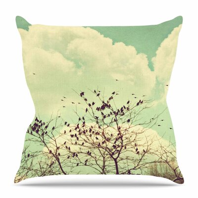 Birds of a Feather by Sylvia Coomes Throw Pillow Size: 26 H x 26 W x 4 D