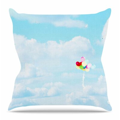 Balloons in the Sky by Sylvia Coomes Throw Pillow Size: 26 H x 26 W x 4 D