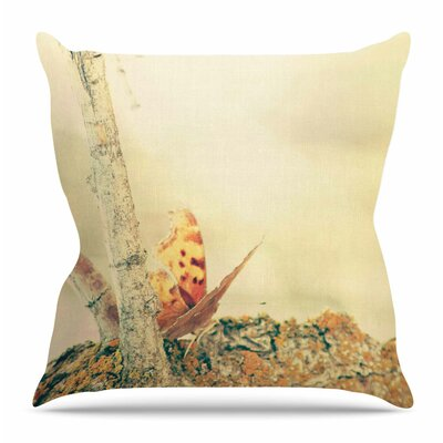 Monarch Butterfly by Sylvia Coomes Throw Pillow Size: 18 H x 18 W x 4 D