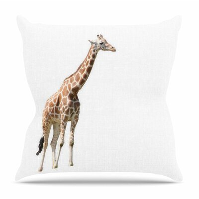 Giraffe by Sylvia Coomes Throw Pillow Size: 18 H x 18 W x 4 D