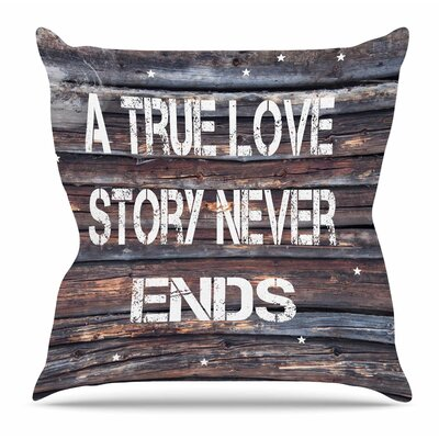 True Love by Suzanne Carter Throw Pillow Size: 26 H x 26 W x 4 D
