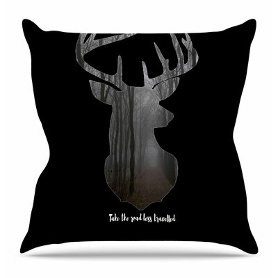 The Road by Suzanne Carter Throw Pillow Size: 18 H x 18 W x 4 D, Color: Black