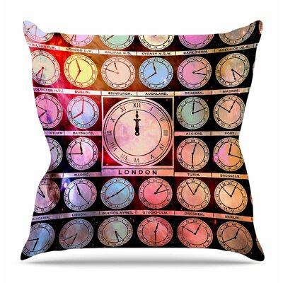 Time Space by Suzanne Carter Throw Pillow Size: 18 H x 18 W x 4 D