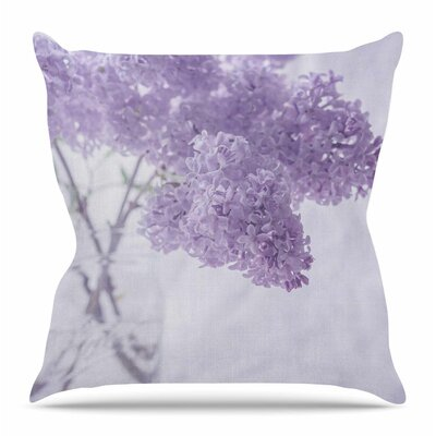 Lilacs by Suzanne Harford Throw Pillow Size: 18 H x 18 W x 4 D