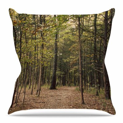 Forest Trees by Sylvia Coomes Throw Pillow Size: 16 H x 16 W x 4 D