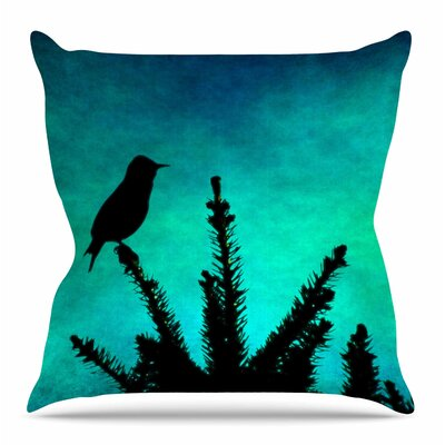 Bird Silhouette by Sylvia Coomes Throw Pillow Size: 26 H x 26 W x 4 D