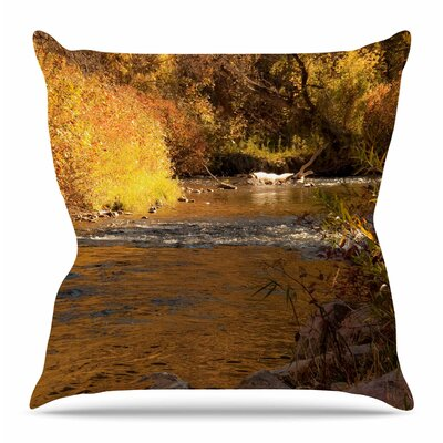 Autumn Stream by Sylvia Coomes Throw Pillow Size: 18 H x 18 W x 4 D