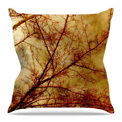 Gothic Tree by Sylvia Coomes Throw Pillow Size: 18 H x 18 W x 4 D