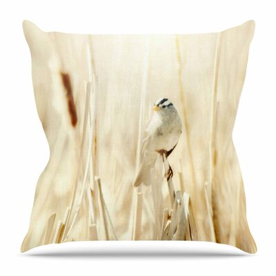 Bird in Ethereal Light by Sylvia Coomes Throw Pillow Size: 26 H x 26 W x 4 D