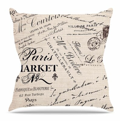 Alatorre Text Throw Pillow Size: 18 H x 18 W x 4 D