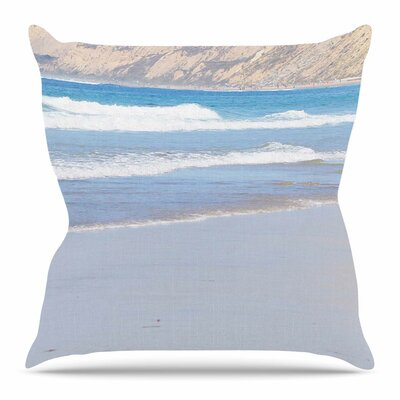 California Beach by Sylvia Coomes Throw Pillow Size: 26 H x 26 W x 4 D