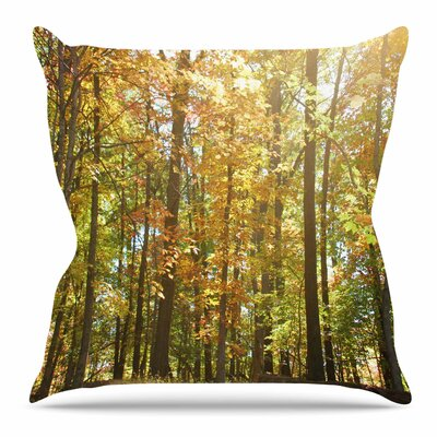 Autumn Trees 2 by Sylvia Coomes Throw Pillow Size: 18 H x 18 W x 4 D