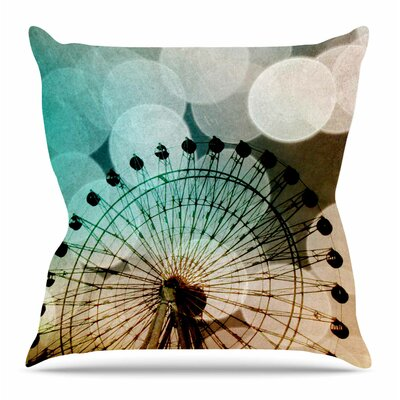 Ferris Wheel Silhouette by Sylvia Coomes Throw Pillow Size: 18 H x 18 W x 4 D