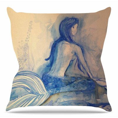 Mer-Maid? Huh... by Theresa Giolzetti Throw Pillow Size: 16 H x 16 W x 4 D