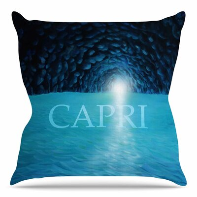 The Grotto of Capri by Theresa Giolzetti Throw Pillow Size: 20 H x 20 W x 4 D