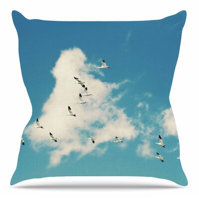 Snow Geese by Sylvia Cook Throw Pillow