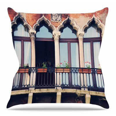 Venice 11 by Sylvia Coomes Throw Pillow Size: 20 H x 20 W x 4 D