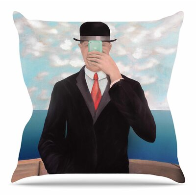 Son of the Apple by Theresa Giolzetti Throw Pillow Size: 16 H x 16 W x 4 D