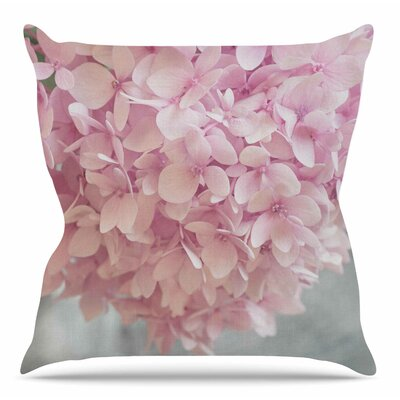 Pastel Hydrangea Flowers by Suzanne Harford Throw Pillow Size: 18 H x 18 W x 4 D