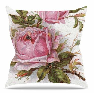 Vintage Rose by Suzanne Carter Throw Pillow