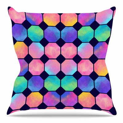 Colorful Watercolor Octagons by Noonday Design Throw Pillow Size: 20 H x 20 W x 4 D