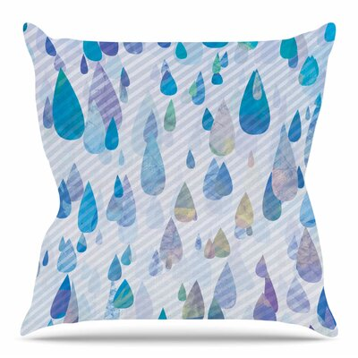 Rain Storm by Noonday Design Throw Pillow Size: 16 H x 16 W x 4 D