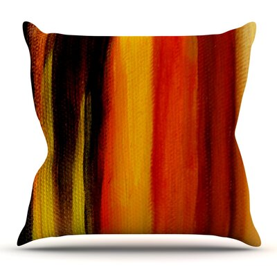 Firework by Theresa Giolzetti Throw Pillow Size: 26 H x 26 W x 4 D