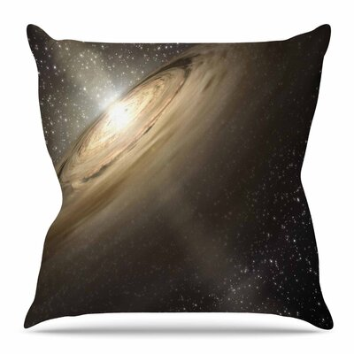 Galaxy by Suzanne Carter Throw Pillow Size: 16 H x 16 W x 4 D
