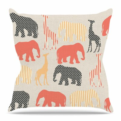 Zoo by Suzanne Carter Throw Pillow Size: 16 H x 16 W x 4 D