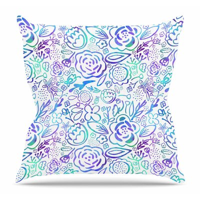Floral Explosion by Noonday Design Throw Pillow Size: 26 H x 26 W x 4 D