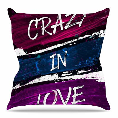 Crazy in Love by Noonday Design Throw Pillow Size: 26 H x 26 W x 4 D