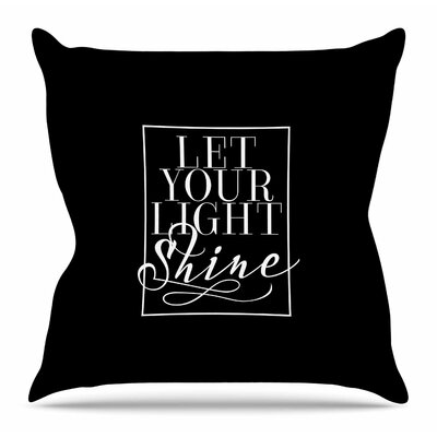 Let Your Light Shine by Noonday Design Throw Pillow Size: 20 H x 20 W x 4 D