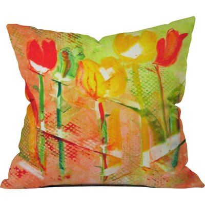 Citrus Tulips by Laura Trevey Indoor/Outdoor Throw Pillow Size: 26 H x 26 W x 7 D