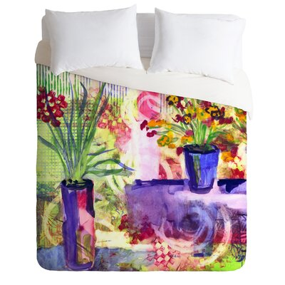 Purple and Lime by Laura Trevey Lightweight Duvet Cover Size: Twin