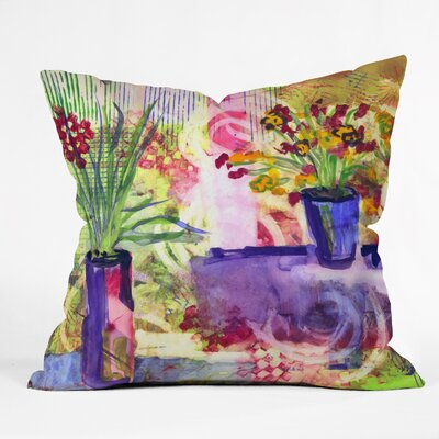 Purple And Lime by Laura Trevey Indoor/Outdoor Throw Pillow Size: 26 H x 26 W x 7 D