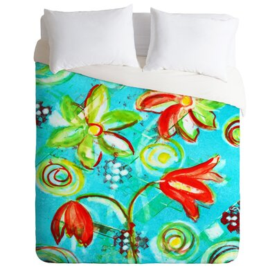 Tangerine Tango by Laura Trevey Lightweight Duvet Cover Size: Twin