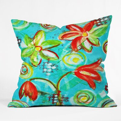 Laura Trevey Tangerine Tango Throw Pillow Size: 18 H x 18 W x 5 D