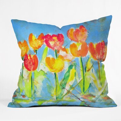 Spring Tulips by Laura Trevey Indoor/Outdoor Throw Pillow Size: 20 H x 20 W x 6 D