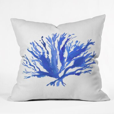 Sea Coral by Laura Trevey Throw Pillow Size: 16 H x 16 W x 4 D
