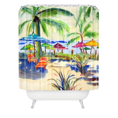 Caribbean Time by Laura Trevey Shower Curtain