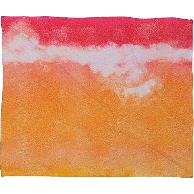 Tangerine Tie Dye Fleece by Laura Trevey Throw Blanket Size: Medium