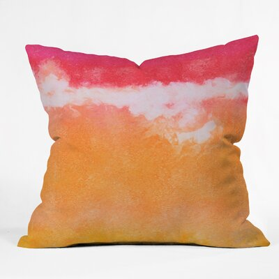 Tangerine Tie Dye Throw Pillow Size: 26 H x 26 W x 7 D