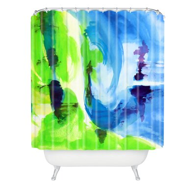 Shot Of Lime by Laura Trevey Shower Curtain