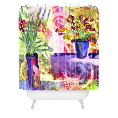 Purple and Lime by Laura Trevey Shower Curtain