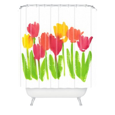 Bright Tulips by Laura Trevey Shower Curtain